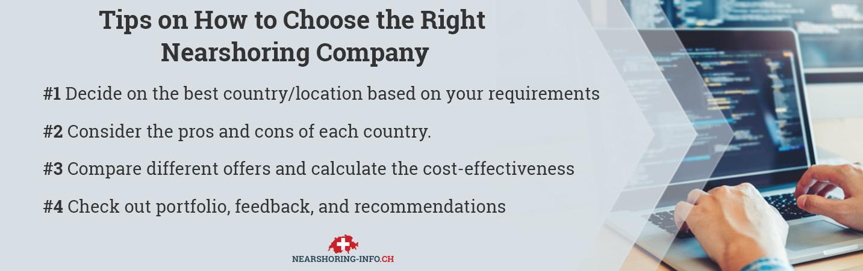 how to choose nearshore company