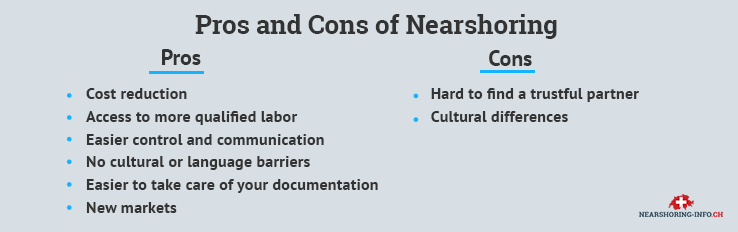 nearshore software development pros and cons