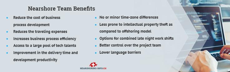 nearshore team benefits