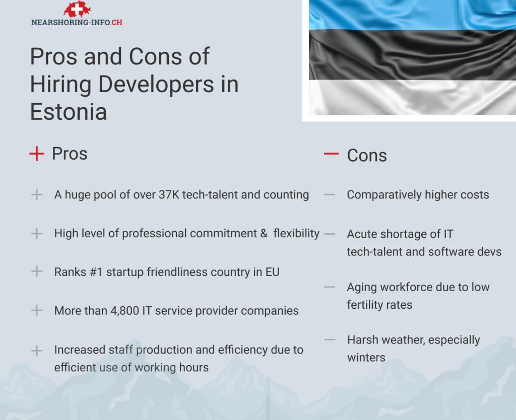 hiring estonia web developer pros and cons